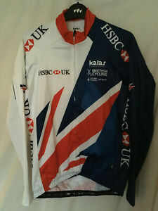 Kalas cycling bike team GB issue long sleeve LS jersey shirt HSBC bike size 5