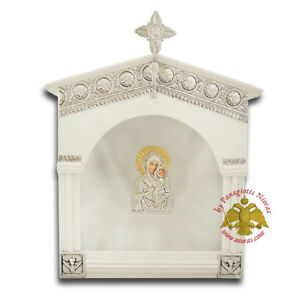 Orthodox Wooden Wedding Crown Case Stefanothiki Traditional Church Style