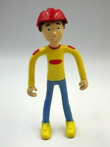 Figurine Vintage Flexible Quick Magic Box Toys 5 1/8in Toy Shirt Yellow + Helmet