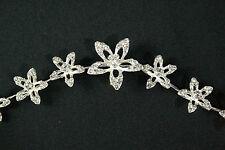 Dance Wedding Formal Bun Wrap or Headband Diamante Flower Headpiece