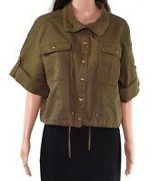 Lauren by Ralph Lauren Women's Jacket Green Size 8 Vondra Military $165 #550