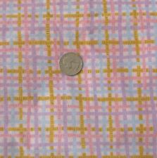 ~ LOVELY PINK COTTON  PLAID CAROL ENDRES BERNARTEX FABRICS 2.5 Y  SCREEN PRINT ~