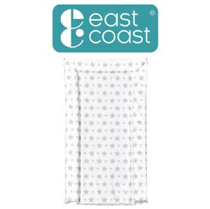 East Coast Nursery Essentials Grey Star Padded Wipe Clean Baby Changing Mat