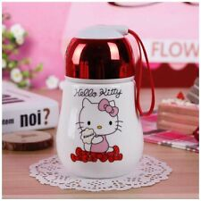 HOT New Cute Hello Kitty Cat Coffee Mugs with Lid 320ml Tea Milk Cup Bottle Gift