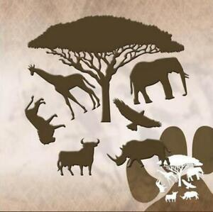 Wilde Tiere Metall Stencil Cutting Dies Scrapbooking Stanzschablonen Handwerk