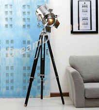 Designer Look Vintage Design Searchlight Riflettore TELESCOPICO Treppiede Lampada