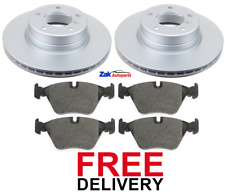 FOR BMW 525 525D E60 (2004-2010) FRONT 2 BRAKE DISCS & PADS SET *NEW*