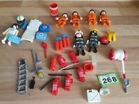 PLAYMOBIL Fire bridage, Amblance  SeaRescue people ACCESSORIES mixed part BUNDLE