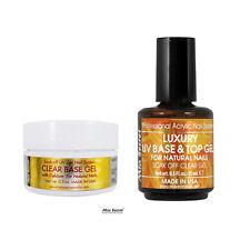 Mia Secret Clear Base Gel 0.5oz + Luxury Top UV Gel 0.5oz Acrylic Nail System