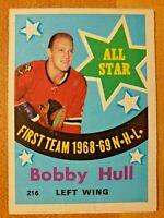 1969-70 O-Pee-Chee OPC Bobby Hull #216 All Star Chicago Blackhawks