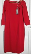 Goat Henriette Red Bow Pencil Dress - Stated Size 16
