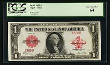 1923 $1 LEGAL TENDER BANKNOTE FR-40 PCGS CERTIFIED VERY CHOICE NEW-64 LOW SERIAL
