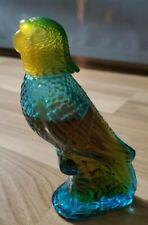 Vintage Avon Island Moonwind Cologne Glass Blue Parakeet Parrot Bird Bottle !