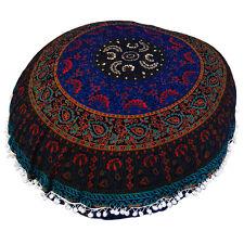 "Large Mandala Pillowcases 32"" Decorative Throw Round Floor Cushions Pouf Cover"