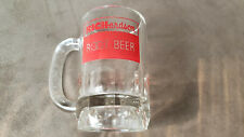 """Vintage RICHardson Root Beer Mug Red Logo 5"""" Tall Heavy Thick Glass"""