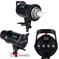 Pro 300W Photo Studio Digital LED Display Flash Strobe Head Lighting Cooling Fan