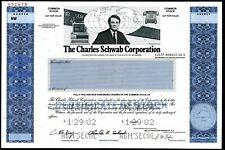 *RARE* Charles Schwab Corporation Specimen Stock Certificate - 2002