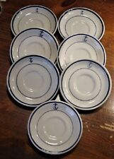 7 U S Navy Blue Anchor Saucers