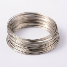 1Unit Memory Wire Steel Beading Cord Cuff Bangle Bracelet Making Platinum 65mm