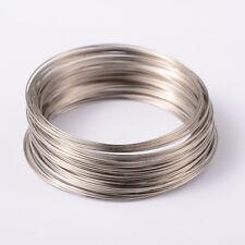 1Unit Memory Wire Steel Beading Cord Cuff Bangle Bracelet Making Platinum 65mm