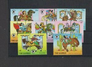 Gambia 1989 Disney Expo 89 Carousel 8 v set MNH per scan