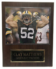 """CLAY MATTHEWS Green Bay Packers poster un-signed 8x10 photo Wood Frame 15"""" X 12"""""""