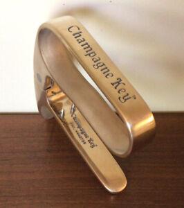 "Vintage Circa 1984 ""Champagne Key ~ Pat.#4442735 ~ California ~ Brass / Plated"