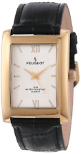 Peugeot Mens Textured Roman Numeral Dial Leather Strap Classic Dress Watch 2033G