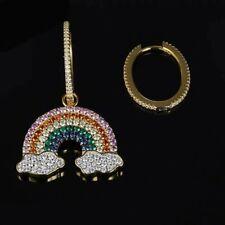Boucles d/'oreilles très originales hippie Spirales fil multicolores arc en ciel