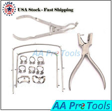 Dental Rubber Dam Kit Ainsworth Brewer 12 Clamps Forceps 2 Frame Premium Qlty