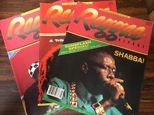 Reggae Report Magazines (3) Lot 1990s