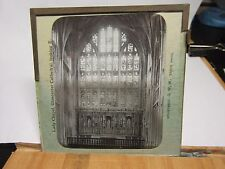 c1890 12 x GLOUCESTER CATHEDRAL Glass Lantern Photo Slide - GEORGE W WILSON