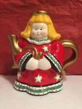 Christmas Angel Teapot Ceramic Collectible