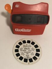 Vintage 1980's 3D View-Master w/ Orange Handle + 1 Reel