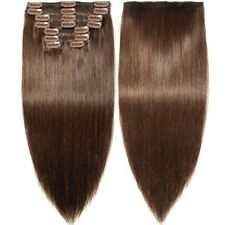 s-noilite  Human Hair Extensions Clip in 100% Real Remy Thick True Double Weft
