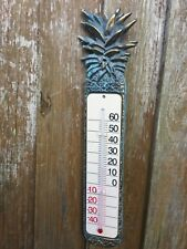 Brass garden Patio Conservatory  Thermometer Pineapple