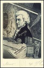 Naidenov Hristo 2008 Exlibris C3 Bookplate Mozart Composer Music Violin Notes 70