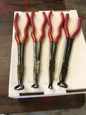 4 PC.MAC TOOLS LONG REACH HOSE GRIP PLIERS-11 IN.