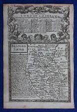 Original antique county map, ENGLAND, BEDFORDSHIRE, Emanuel Bowen, 1724