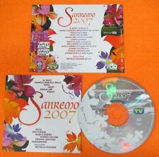 CD SANREMO 2007 MICHELLE HUNZIKER STADIO AL BANO VELVET NADA no mc lp dvd (C8)