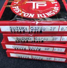 4 Sets 1980 1981 1982 1983 Suzuki GS750 GSX750 .50 Over Piston Rings 12140-45410