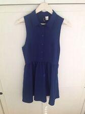 H&M Collar Patternless Dresses for Women