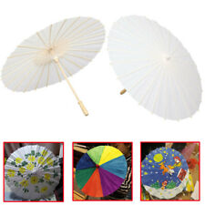 Paper Umbrella Chinese Japanese 30cm Parasol Umbrella DIY Graffiti Kids Toys