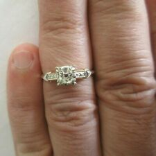 Vintage 14K Gold Diamond Engagement Ring Old Mine Cut=.60  F-VS1  Value=$6,750