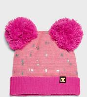 Under Armour Girls' UA Double Pom Beanie, Pink