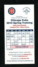 Chicago Cubs--2013 Spring Training Tall Home Schedule--Farnsworth's