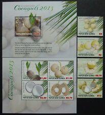 Papua Neuguinea 2013 Kokosnüsse Coconuts Pflanzen Früchte 1920-27 Block 166 MNH
