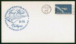 Mayfairstamps US First Flight Cover 1964 Al White Signed Valkyrie B70 Cover wwr1