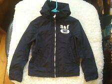 Boys Abercrombie Zip-Up Hooded Rain Jacket Size S Euc