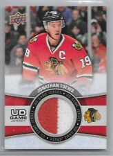 15-16 UPPER DECK UD GAME JERSEY #GJ-TO JONATHAN TOEWS BLACKHAWKS GROUP B